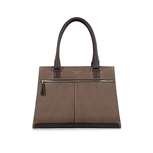 Shopping bag in pelle marrone
