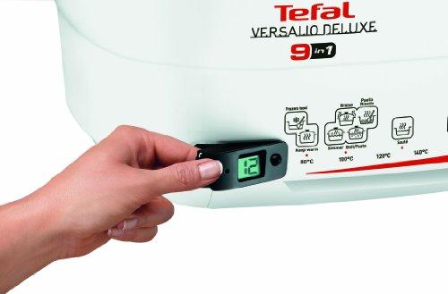 Tefal FR4950 Multi-Funktions-Fritteuse Versalio Deluxe 9-in-1 (1600 Watt, inklusive Pfannenwender), weiß - 4