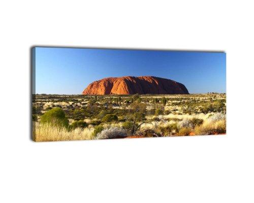 Leinwandbild Panorama Nr. 148 Ayers Rock Sunrise 100x40cm, Keilrahmenbild, Bild auf Leinwand, Australien Outback Uluru