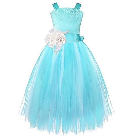 FEESHOW Kids Girls Flower Lace Pageant Wedding Dress Formal Bridesmaid