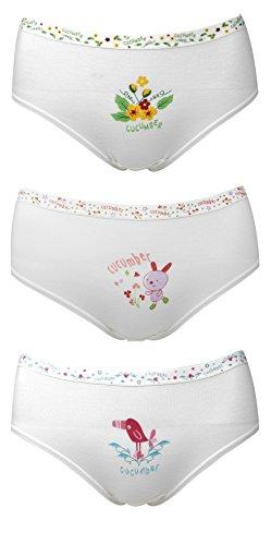 Shunkk Cucumber Baby Girl Panties underwear-314 (Pack of 3) (75cm(8-10yrs))