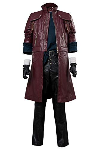 Kostüm Devil Cosplay May Cry - Tollstore Devil May Cry V DMC5 Dante Aged Outfit Leder Mantel Cosplay Kostüm Herren XL