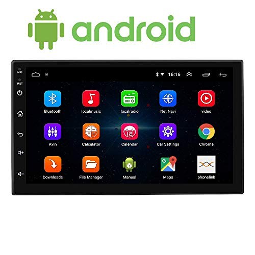 Sypher Universal Android 7.0 inch Touch Screen Double Din Car Stereo DVD MP5 Player 2 DIN (Android 8.1) Car Player with Navigation/GPS/WiFi/Bluetooth Full HD 1080P 1GB RAM/16GB Inbuilt Memory