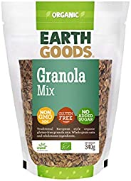 Earth Goods Organic Gluten-Free Granola Mix, NON-GMO, Gluten-Free, No Added Sugar 340g