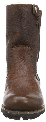 Blackstone High Zipperboot Fur, Bottes Motardes femme brun (old yellow)