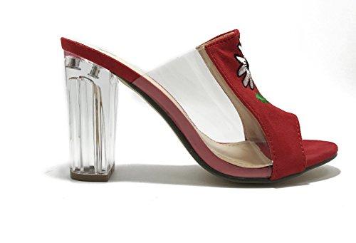 Sandali Signora Pantofole Sandali Casuali Red