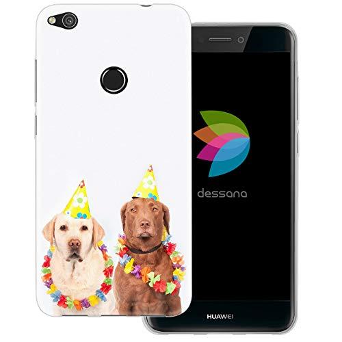dessana Fasching Party transparente Schutzhülle Handy Case Cover Tasche für Huawei P8 Lite (2017) Kostüm ()