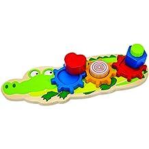 Eichhorn 100005406–Forme Puzzle, Crocodile Multicolore