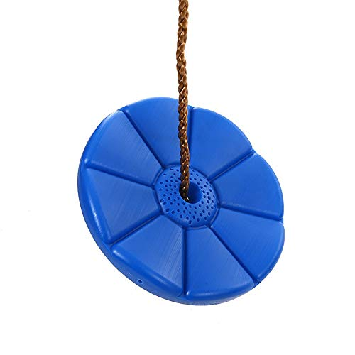 Zyangg-Home Kinder Adjustable Outdoor Gartenschaukelsitz Disc Swing-Ergänzungs Leg Replacement mit Beinschutz Kindersicherheitssitz (Farbe, Größe : Diameter 28cm)
