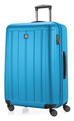HAUPTSTADTKOFFER - Kotti - Valigia da viaggio rigida e leggera, grande 76 cm, Trolley ABS, TSA, 120 litri, Ciano
