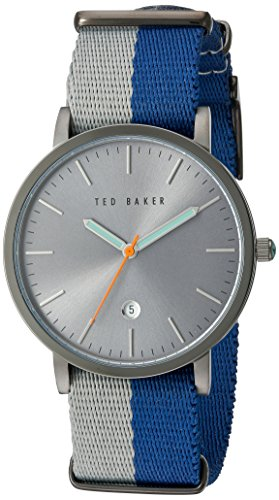 Ted Baker Mens Blue Fabric Quartz Analog TE10026447