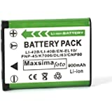 Maxim - D-LI63, D-LI108, High output - 900mAh Battery for PENTAX