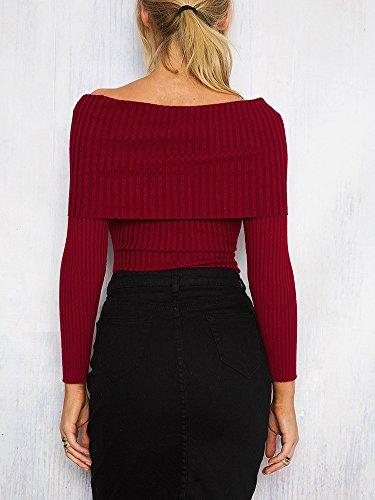 Simplee Apparel - Pull - Femme Rouge