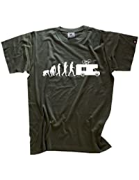 Shirtzshop Erwachsene T-Shirt Original Evolution Caravan Camper