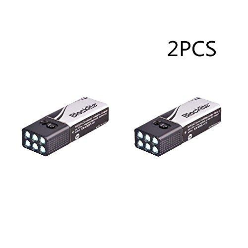 Docooler 9 Volt LED Taschenlampe Torch/Blocklite Taschenlampe Camping Licht Kompakt Ultra Hell