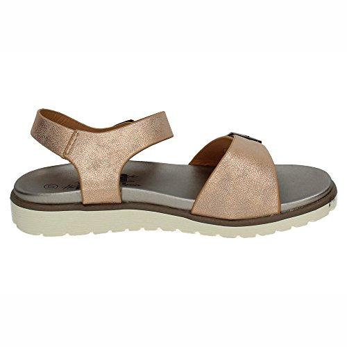 XTI 47948, Damen Offene Sandalen mit Keilabsatz, Pink - Nude - Größe: EU 38