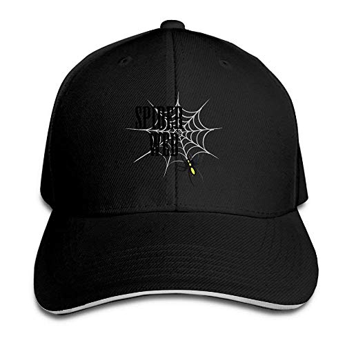 Spider Web Cartoon Unisex Women Plain Adjustable Sandwich Peak Baseball Cap