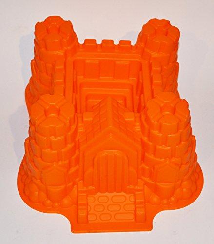 Silikon Backform Gross Burg Schloss Orange Kuchenform