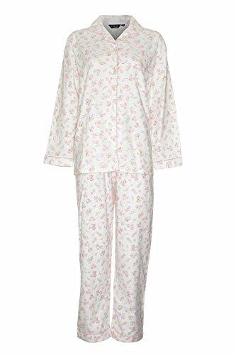 Neuf Femmes Champion Floral Chaude Wyncette Pyjama Coton Chemise De Nuit Rose