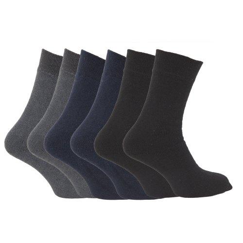 62f31063aad22 FLOSO - Chaussettes thermiques 1.9 tog (lot de 6 paires) - Homme (EUR