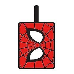 Echte Marvel Comics Spider-Man-Symbol PVC-Gummi-Gepäckanhänger Travel Eyes Web