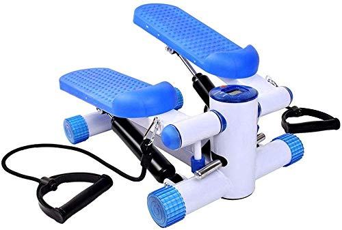 Spinning Bike Stepper Maschine mit Trainingsbänder Aerobic Home Mini-Gewicht-Verlust-Fuss-Massage, Kleine Stepper Swing-Maschine Ropes Fitness Workout W / Training Cord Arme Bein.Stepper Trainingsgerä -