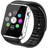 Fantime Relojes Inteligentes Smartwatch Relojes Pulsera Bluetooth Smart watche Smart Wristwatch Soporte Llamada Mensaje SIM Podómetro/Pantalla Táctil /Facebook/Twitter/Monitor de sueño/ Internet para Android Teléfonos Inteligentes