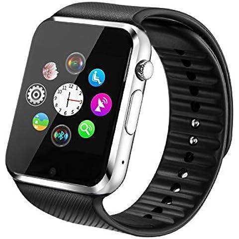 Fantime Relojes Inteligentes Smartwatch Relojes Pulsera Bluetooth Smart watche Smart Wristwatch Soporte Llamada Mensaje SIM Podómetro/Pantalla Táctil /Facebook/Twitter/Monitor de sueño/ Internet para Android Teléfonos