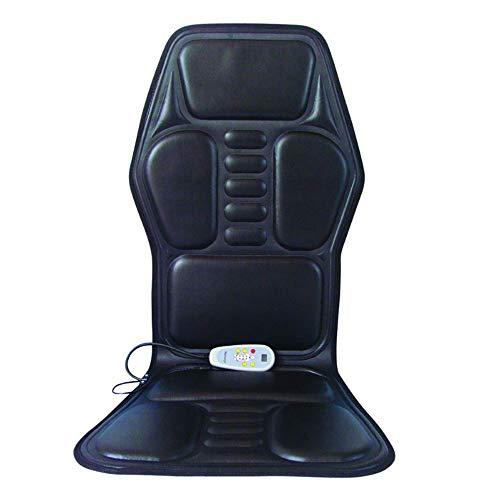 WXL Rückenmassagegerät-Autositzkissen, Vibrationspolsterbezug für Rücken und Oberschenkel mit Vibrationsmotoren für das Büro zu Hause,Black- 118 * 50 -