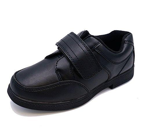 HeelzSoHigh Jungen Kinder Junior Schwarz Zurück in Die Schule Zum Reinschlüpfen Smart Uniform Kinder Bequem Schuhgrößen 10-3 - Schwarz, EUR 28 (Junior-uniform Die)