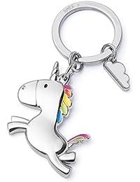 Porte-clés Voler Licorne Avec le nuage arc en ciel, Contes de fées,La magie, brillant fini