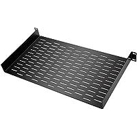 Neewer 1U Universal Bandeja Rack con diseño de ventilación Conveniente para el Estudio y instalacion Permanente(Negro)
