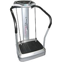 Preisvergleich für @tec Vibrationsplatte, Vibration Trainings-Gerät für Bauch Beine Po CRAZY-FIT-MASSAGE - effektiver Vibrationstrainer - 4 Programme - 2 Fitnessbänder - Steuerpult mit LED Anzeige, Balancetraining