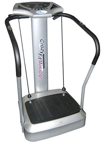 @tec Vibrationsplatte, Vibration Trainings-Gerät für Bauch Beine Po Crazy-FIT-Massage - effektiver Vibrationstrainer - 4 Programme - 2 Fitnessbänder - Steuerpult mit LED Anzeige, Balancetraining preisvergleich