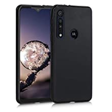 kwmobile TPU Silicone Case Compatible with Motorola One Macro - Soft Flexible Protective Phone Cover - Black Matte