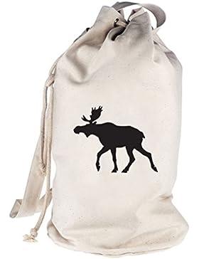 Shirtstreet24, ELCH, Schweden Skandinavien bedruckter Seesack Umhängetasche Schultertasche Beutel Bag