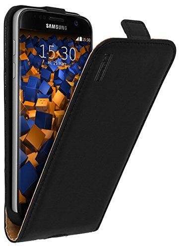 mumbi PREMIUM Leder Flip Case für Samsung Galaxy S7 Tasche Premium Flip Case