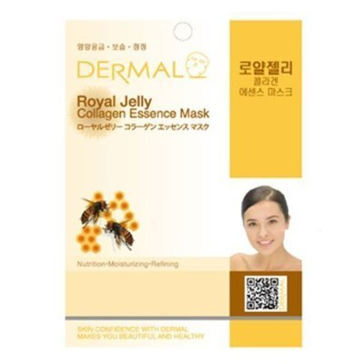 Dermal Korea Collagen Essence Full Face Facial Mask Sheet - Royal Jelly by Dermal