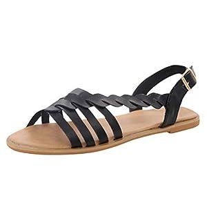 Damen Offene Sandalen Sommer Knöchelriemchen Schuhe Bohemia Plateau Sandaletten Krawatte Sommersandalen