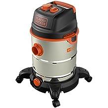 Black and Decker 51689 - Aspiradora (1600 W, con depósito 30 litros, con toma de corriente, función automática ON/OFF)