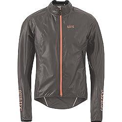 GORE Wear, Hombre, Chaqueta impermeable para ciclismo en carretera, GORE C7 GORE-TEX SHAKEDRY Jacket, Talla: L, Color: Gris, 100094