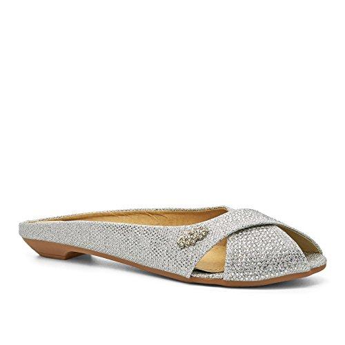 London Schuhe Ella Kids, Mädchen Ballerinas Silber