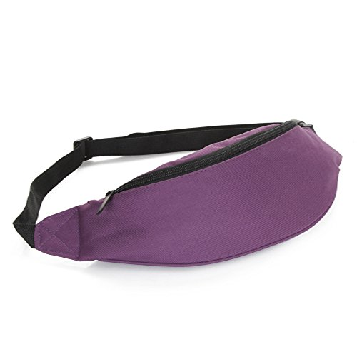 alexrfashion-nylon-durable-waist-bag-outdoor-sport-gym-camping-hiking-bike-waist-pack-for-unisex-pur