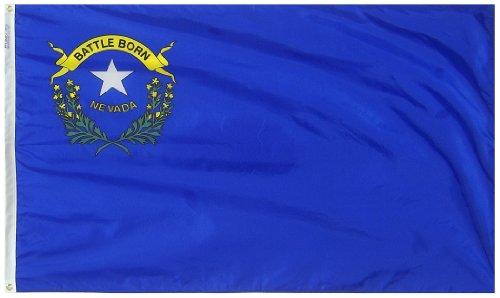 Annin Flagmakers Nevada State Flag Nylon SolarGuard NYL-Glo 100% Made in USA nach Offiziellen State Design Spezifikationen 3x5' Nicht zutreffend - Nyl Banner