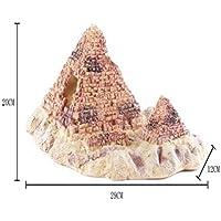 Komener Aquarium Ornament Ornamento de la pirámide del Acuario rocalla para la decoración del Tanque de Pescados de la Cueva de la ocultación de los Pescados