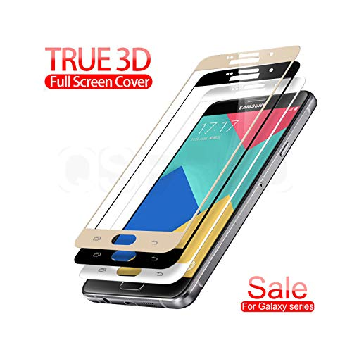 Vikimen Film aus gehärtetem Glas, 3D Protective Glass On The for Galaxy A3 A5 A7 J3 J5 J7 S7 Tempered Screen Protector Glass Protection Film for Samsung A3 2017 White