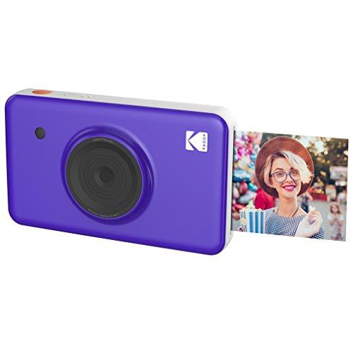 Kodak Mini SHOT Impresiones inalámbricas de 2x3 pulgadas con 4 PASS Tecnología de impresión patentada Cámara digital de impresión instantánea 2 en 1 (Purpura)