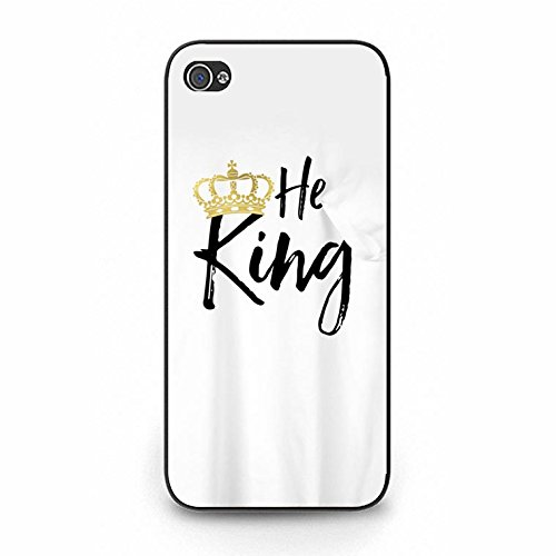 Boyfriend Girlfriend Lovers Best Friends Fashion Unique King Queen Matching Couple Phone Case Cover for Iphone 5/5s Color115d