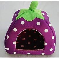 MXM MXMProductos para Mascotas Dog Kennel Strawberry Modelado Adecuado para pequeñas y Medianas Perros,Purple