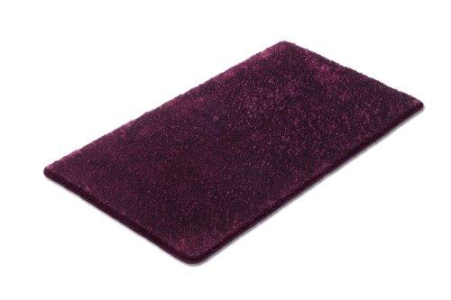 Tappeto toilette Vonella con il colore mora tagliare con filato effetto lucido INNOVATIVO - WC tappeto 60x50 cm con